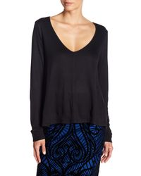 Jack BB Dakota - Black Hurst Long Sleeve Deep V-neck Sweater - Lyst