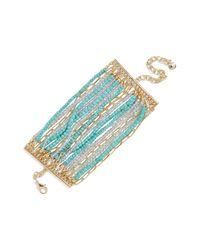 BaubleBar - Blue Kamira Beaded Bracelet - Lyst