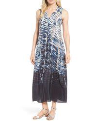 6f2e43287e3 Lyst - NIC+ZOE Silk-blend Dress in Blue
