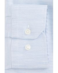 Calibrate - Blue Trim Fit Twill Dress Shirt for Men - Lyst
