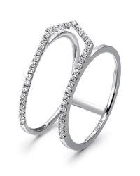 Tara Pearls - 14k White Gold Diamond Open Arrow Ring - 0.16 Ctw - Size 7 - Lyst