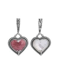 Relios - Metallic Sterling Silver Mixed Stone Heart Shaped Pendant Charm - Lyst