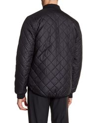 Lindbergh Black Reversible Bomber Jacket for men