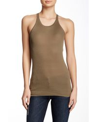 INHABIT - Multicolor Ribbed Silk Blend Tank - Lyst