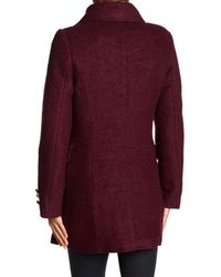 Laundry by Shelli Segal - Purple Boucle Military Coat - Lyst