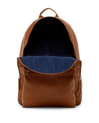 Cole Haan - Black Pebble Leather Backpack for Men - Lyst