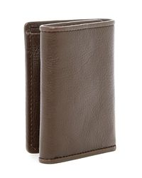 Tommy Bahama Brown Full Grain Leather Trifold Wallet for men