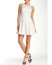 Rebecca Taylor - White Laser Cutout Pleated Dress - Lyst