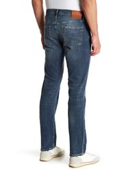 "Lucky Brand - Blue 121 Heritage Slim Distressed Jeans - 30-34"" Inseam for Men - Lyst"