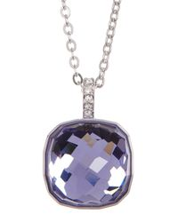 Swarovski - Purple Faceted Half Dome Pendant Necklace - Lyst
