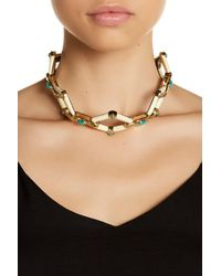 House of Harlow 1960 - White Valda Stone Statement Necklace - Lyst
