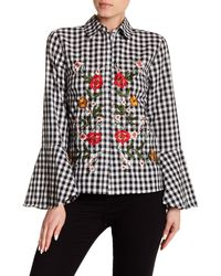 Haute Rogue - Black Embroidered Top - Lyst