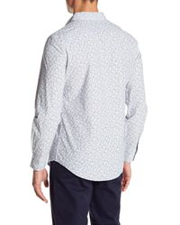 Perry Ellis - White Slim Fit Long Sleeve Floral Print Shirt for Men - Lyst