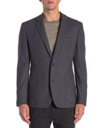 English Laundry - Blue Wool Blend Bib Blazer for Men - Lyst