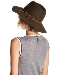 Phenix - Gray Wide Brim Wool & Genuine Leather Fedora - Lyst