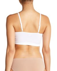 Yummie By Heather Thomson - White V-neck Padded Solid Bralette - Lyst