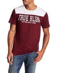 True Religion - Red Short Sleeve Tr Fight Football Tee for Men - Lyst