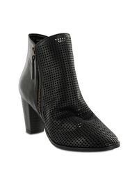 MIA Black Riya Perforated Bootie