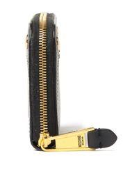 Moschino - Black Leather Zip Around Wallet - Lyst