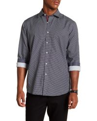 Bugatchi - Blue Microdot Long Sleeve Classic Fit Shirt for Men - Lyst