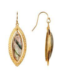 Argento Vivo - Metallic 18k Gold Plated Sterling Silver Marquee Shape Labradorite Earrings - Lyst