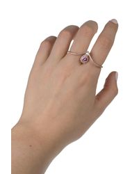 CZ by Kenneth Jay Lane - Multicolor Pave Cz Teardrop Sapphire Double Ring - Lyst