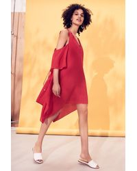 Adelyn Rae | Red Fiona Cold Shoulder Shift Dress | Lyst