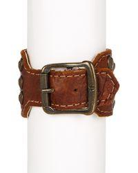 Frye - Brown Stud Leather Cuff - Lyst