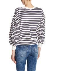 Kensie - Multicolor Striped Shirred Sleeve Shirt - Lyst