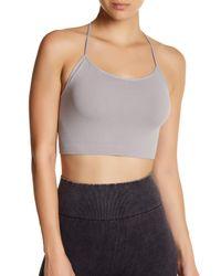 Nikibiki   Gray Skinny Y-strap Back Bralette   Lyst