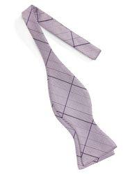 John W. Nordstrom - Purple (r) Plaid Silk Bow Tie for Men - Lyst