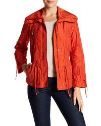Cole Haan | Orange Front Zip Drawstring Jacket (petite) | Lyst