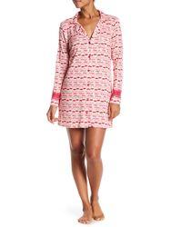 Betsey Johnson - Pink Pucker Up Lace Trim Sleepshirt - Lyst