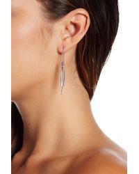 Rebecca Minkoff - Brown Needle Threader Earrings - Lyst
