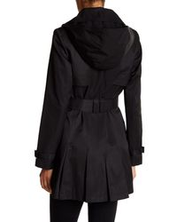 Via Spiga - Black Detachable Hood Trench Coat - Lyst