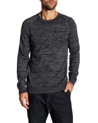 Calibrate - Gray Crew Neck Heathered Sweater for Men - Lyst