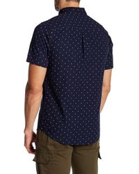 Obey | Blue Zander Short Sleeve Regular Fit Shirt for Men | Lyst