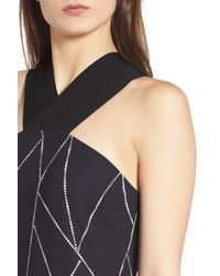 Trouvé | Black Geo Print Cross Back Dress | Lyst