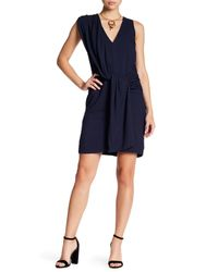 Brochu Walker - Blue Taft Twisted Drape Dress - Lyst