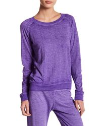 Honeydew Intimates - Purple Crew Neck French Terry Sweatshirt - Lyst