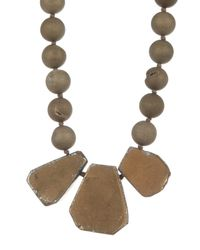 Nest - Metallic Bronze Druzy Quartz Necklace - Lyst