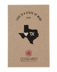 Dogeared | Metallic Sterling Silver Love Is A State Of Mind Stud Earrings - Texas | Lyst