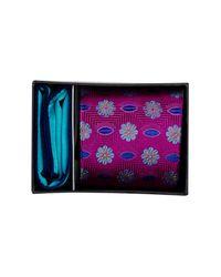 Ted Baker | Purple Olivia Botanical Silk Tie & Pocket Square Set for Men | Lyst