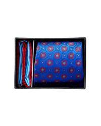 Ted Baker | Blue Silk Kyle Floral Neat Tie & Pocket Square Set for Men | Lyst