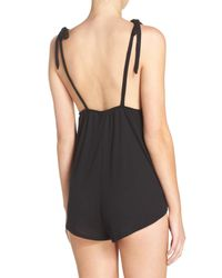 Chelsea28 - Black For You Lounge Romper - Lyst