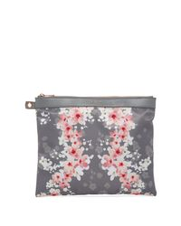 Ted Baker Gray Ondine Oriental Blossom Nylon Pouch - 3 Piece Set