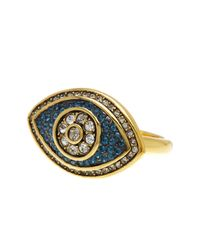 Ariella Collection - Metallic Evil Eye Ring - Lyst