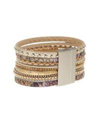 Saachi | Metallic Champagne Venetian Bracelet | Lyst