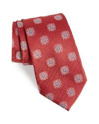 Nordstrom - Red Armas Medallion Silk Tie for Men - Lyst