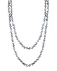 Splendid - Gray Endless Dyed Grey 8-8.5mm Freshwater Pearl Necklace - Lyst